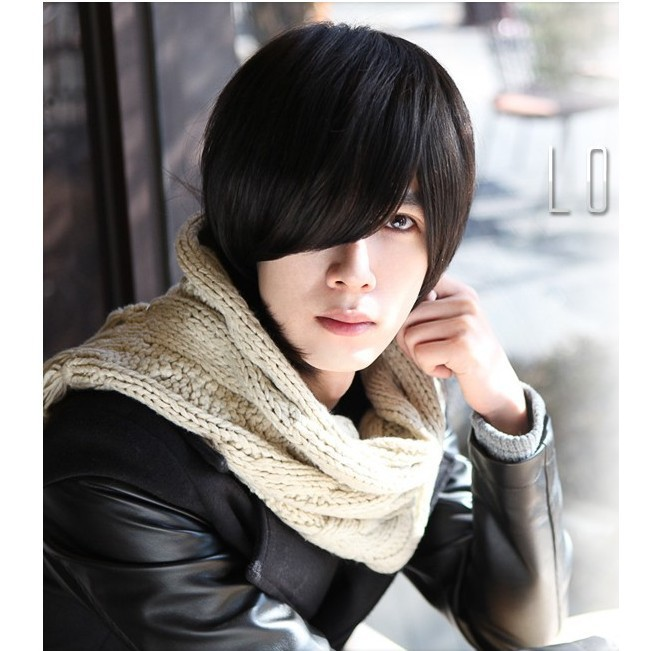 handsome korean style man hair fluffy wig Hot boys wig New fashion Korean men s short