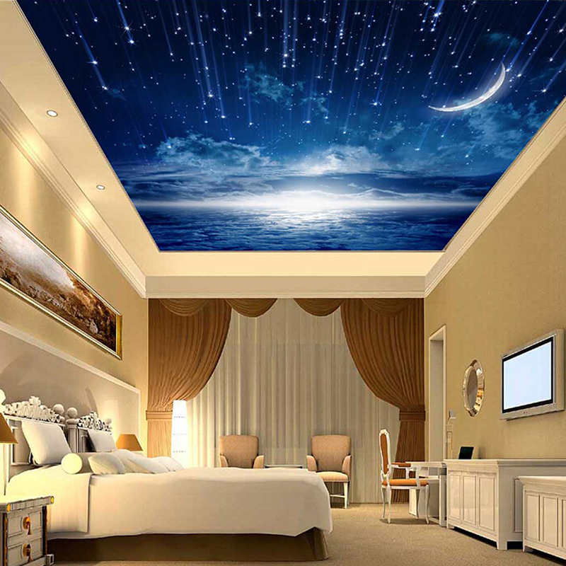 3d Star Nebula Night Sky Large Suspended Ceiling Painted Wall Tv Backdrop Wallpaper Bedroom