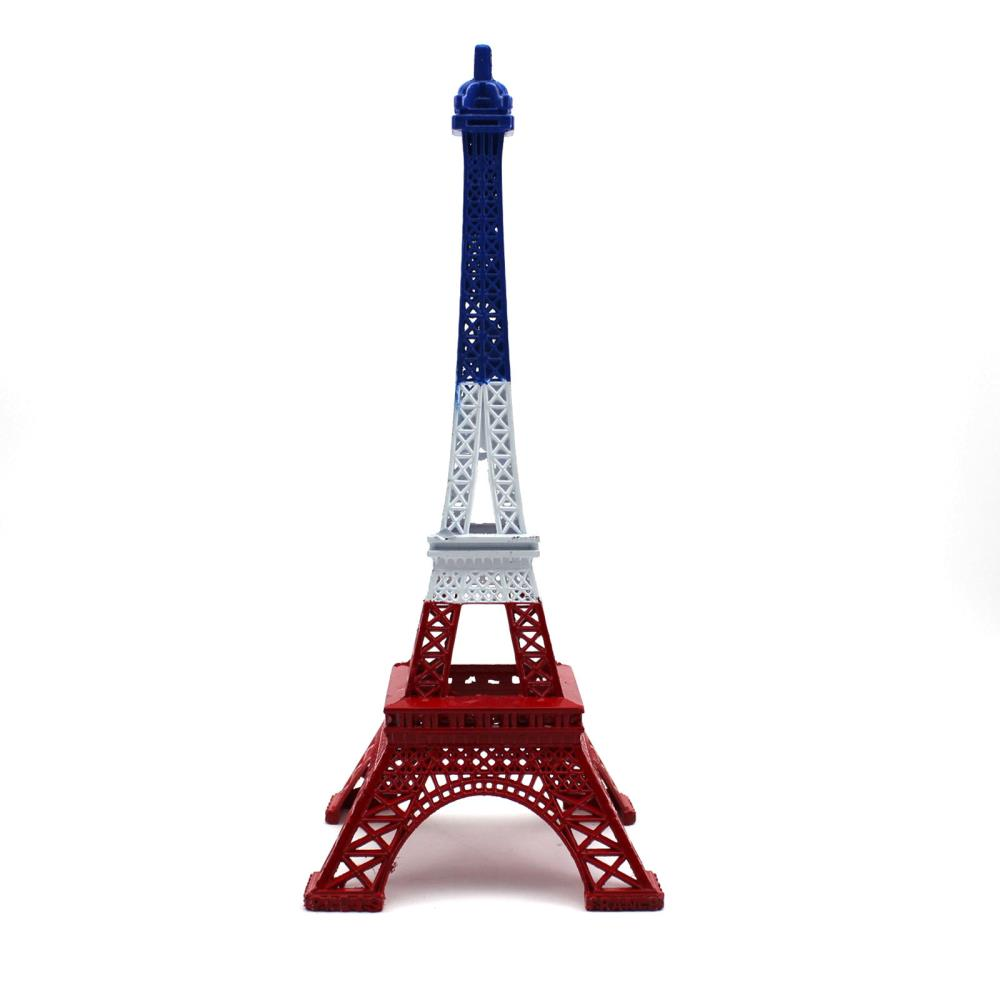25cm vintage model decoration craft blue white red paris for Eiffel tower decorations for the home