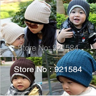 autumn knit hats winter cap women & baby ski hat,2 size beanie hat for women & 0-3 years old kids,touca gorro invierno carhart(China (Mainland))