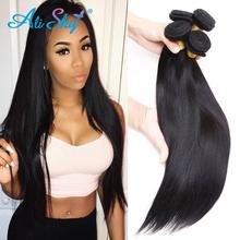 Buy 7A Malaysian Virgin Hair Straight 5 Bundles Malaysian Straight Hair Weave Bundles Ali sky Hair Malaysian Human Hair Extension for $110.00 in AliExpress store