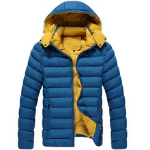 Lowest price winter jacket men coat detachable cap warm thicken Jackets Casual fashion young winter jacket And Coats parka homme(China (Mainland))