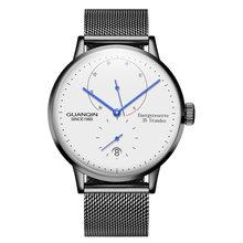 GUANQIN mécanique affaires montre hommes Top marque de luxe lumineux 316L acier inoxydable poignet hommes montres automatiques horloge en or(China)