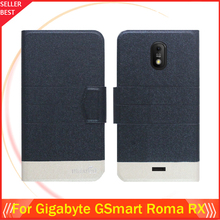 5 Colors Hot! Gigabyte GSmart Roma RX Case Ultra-thin Flip Fashion Leather Exclusive Phone Cover Card Slots - SanKuai Store store