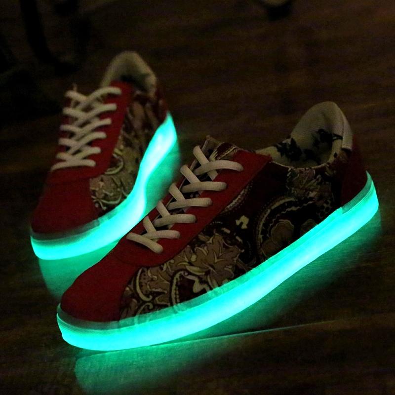 Luminous shoes unisex canvas led women & men chaussure fashion adult light lumineuse