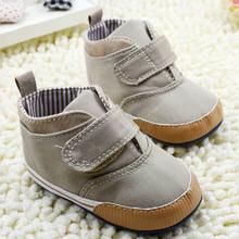 New Newborn Kids High Prewalker Soft Sole Cotton Ankle Boots Crib Shoes Sneaker