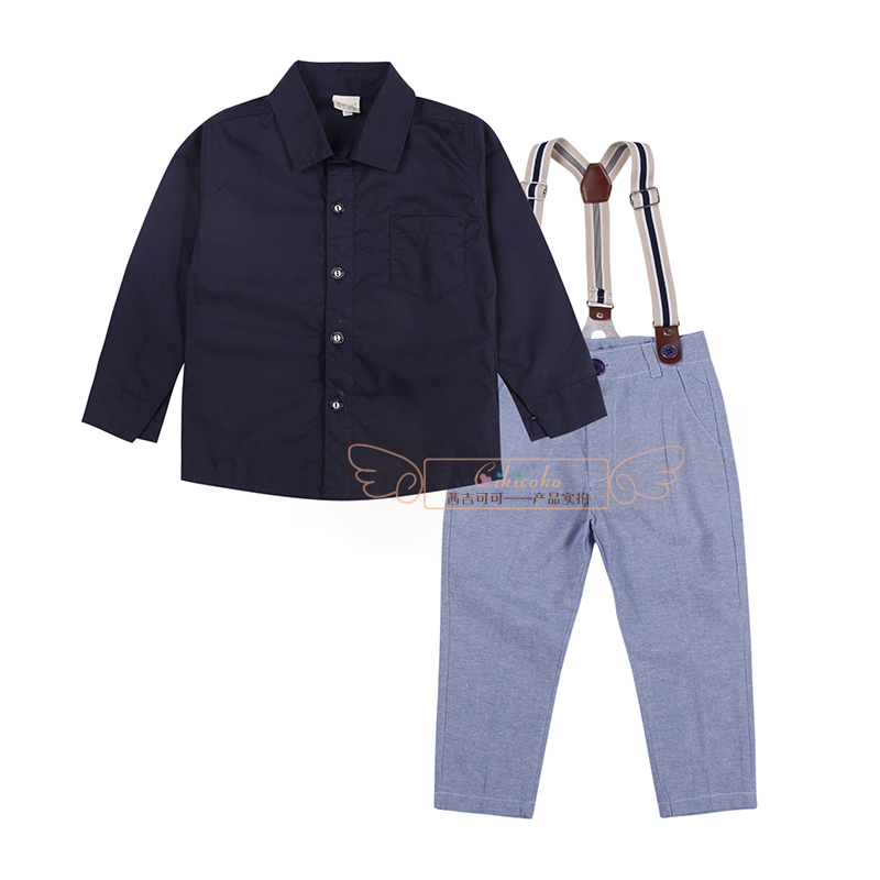 Spring summer fashion gentleman toddler school baby handsome boys suit shirt+pant outfit clothing 5pcs/set free shipping xz076<br><br>Aliexpress