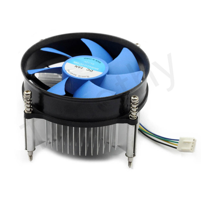 HOT SALE FREE SHIPPING 4PIN&3PIN DC 12V CPU COOL Heatsink cooling pc Ultra Quiet  fan Support Intel/AMD 1PC#FS036