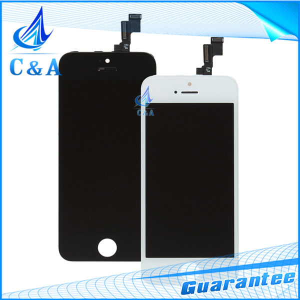 10 piece/lot HK free shipping high quality black and white 4 inch screen for iphone 5S lcd display with touch digitizer assembly