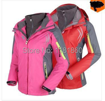 Softshell and Fleece Lining 2-Layer Lady Winter Outdoor Sport Outerwear Waterproof Windproof Warm Outfit Women ski Jackets(China (Mainland))