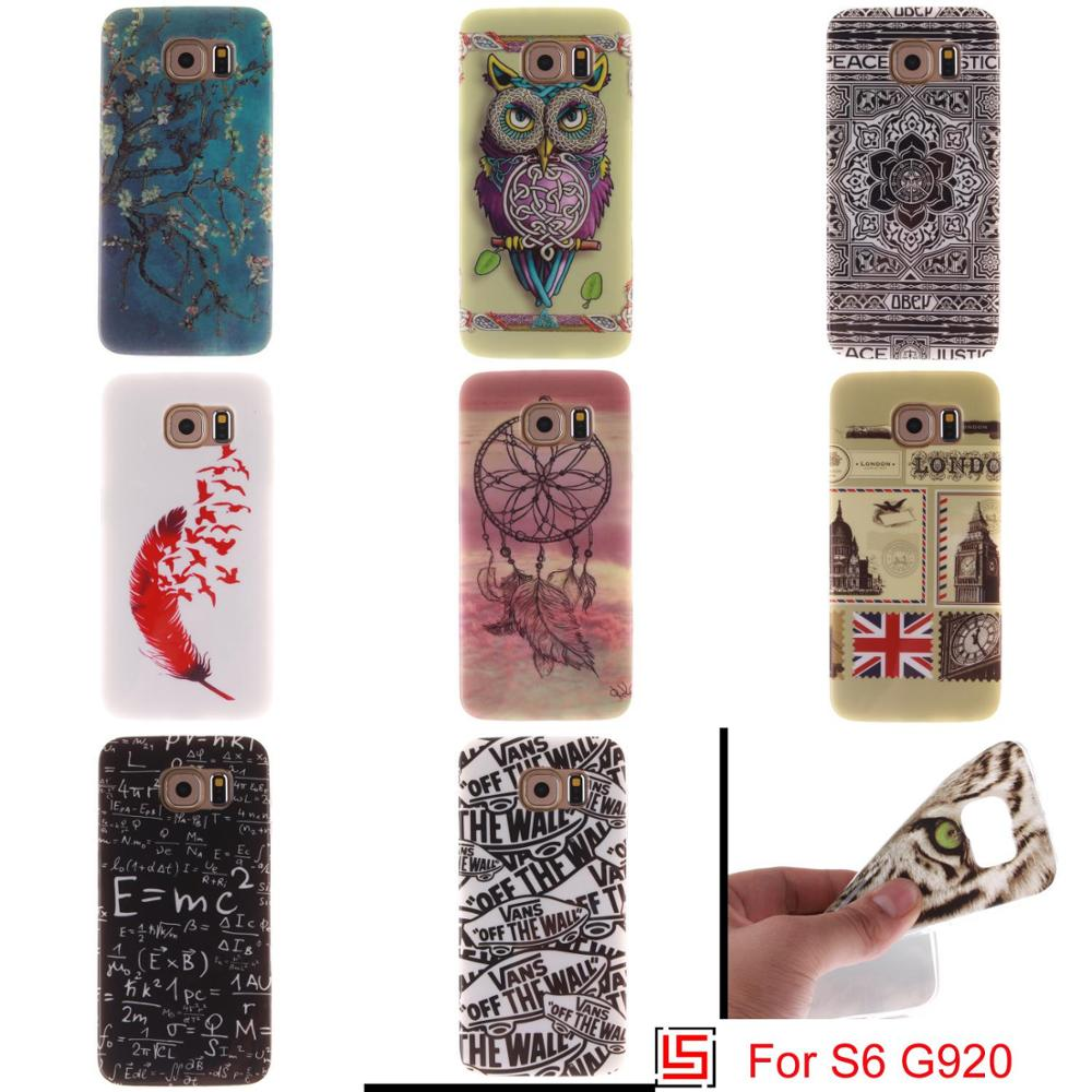 Abstract Ultra Thin TPU Silicone Soft Phone Cell Mobile Case Cover Bag For Samsung Sansung Samsuns Galaxy Galaxi S6 S 6 SM G920(China (Mainland))
