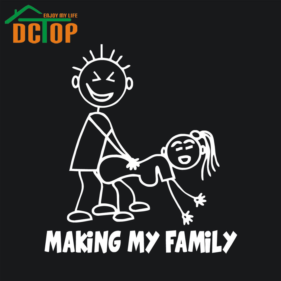 Making My Family Funny Car Sticker Auto Decals Creative Pattern Cartoon Car Stickers Vinyl Adhesive Car Styling Stickers(China (Mainland))