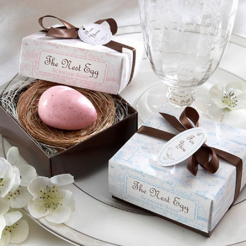 Mini Handmade Soap Wedding Party Holiday Decor Gift Baby Shower Party Gifts With Gift Box(China (Mainland))