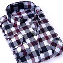 2016 Design Men's Plaid Shirts Famous Cotton Flannel Man Casual Luxury Long Sleeve Fashion Men Tops Male Big Plus Size 44 - Clothing New store