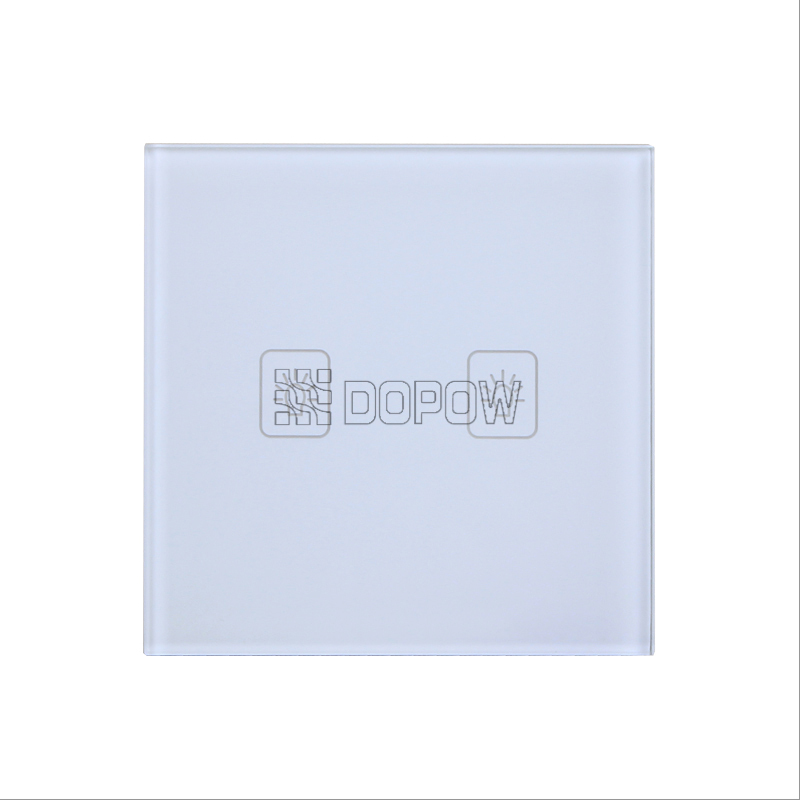 Dopow SK-A802-01 2gang remote control white crystal glass panel touch light switch(China (Mainland))