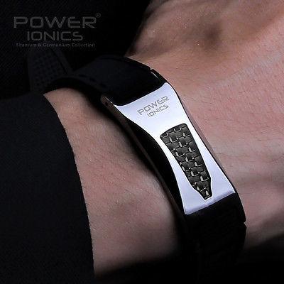 Новая власть Ionics 3000 ионы титана Ge рпи углеродного волокна био-коллаген браслет ...