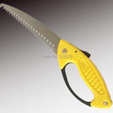 Plegado serrucho plegable de poda hoja celosamente guardados endurecimiento herramienta que acampa