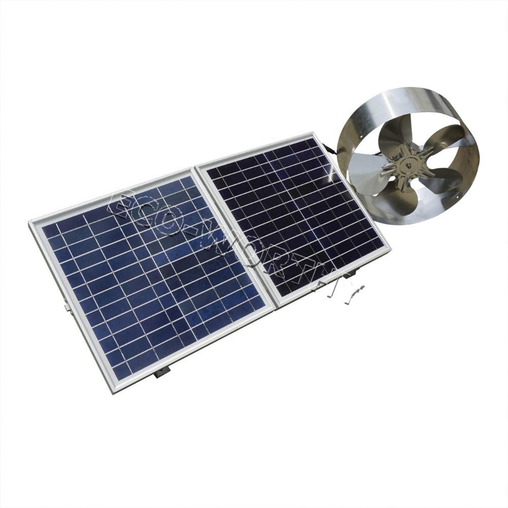 Solar Panel Fan : New w solar powered attic ventilator gable roof vent fan