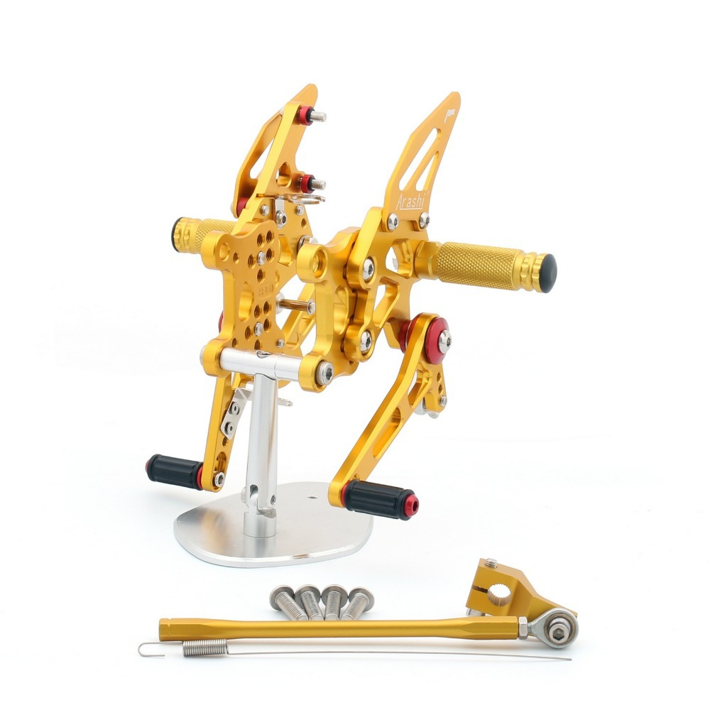 Hot Sale Motorcycle CNC Racing Footrest Rearsets Rear Set Foot pegs For Aprilia RSV4 2009-2011 Gold<br><br>Aliexpress