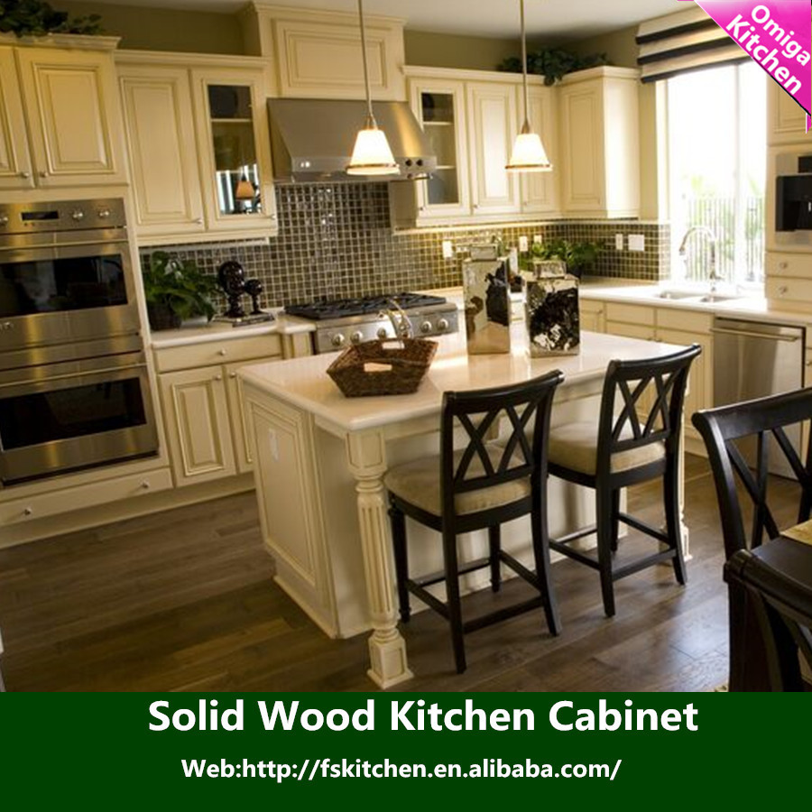 Top modern design high quality cheap price of solid wood for Wood kitchen cabinets prices