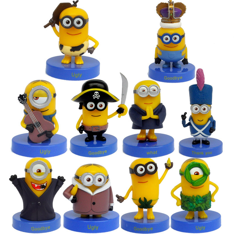 10pcs set Hot 5 9cm Mini Despicable ME Yellow Minion Toys Cute Dolls Movie font b