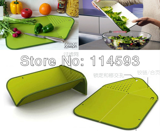 100Pcs high quality Plastic multifunctional foldable draining chopping board Folding colander Kitchenware