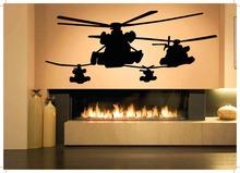 Gunship Sticker Attack Helicopter Decal Muurstickers Posters Vinyl Wall Art Decals Pegatina Quadro Parede Decor Gunship Sticker