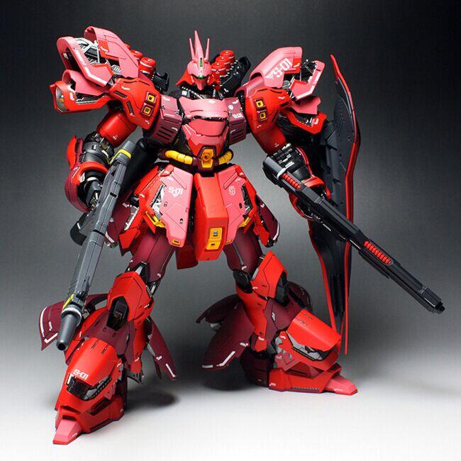 COOL Japanese anime figures MSN-04 SAZABI Gundam Ver.ka 1/100 model Robot Puzzle assembled boy Hand do the collection toys gifts(China (Mainland))