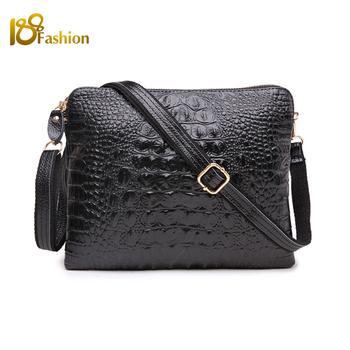 Dollar Price Genuine Leather Shoulder Bags Women Leather Handbags Fashion Crocodile Evening Clutch Messenger Crossbody Bag