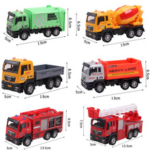 6pcs/lot 1:55 Metal and Plastic Engineering vehicles Model Toys City Working Truck Toys for kids(China (Mainland))