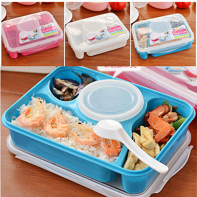 bento lunch box utensils fruits food soup storage containers microwave oven b. Black Bedroom Furniture Sets. Home Design Ideas