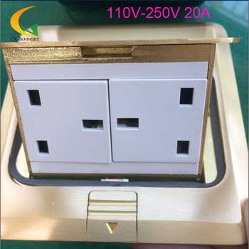 110V-250V 20A French French standard flip-up floor socket floor socket  20%OFF