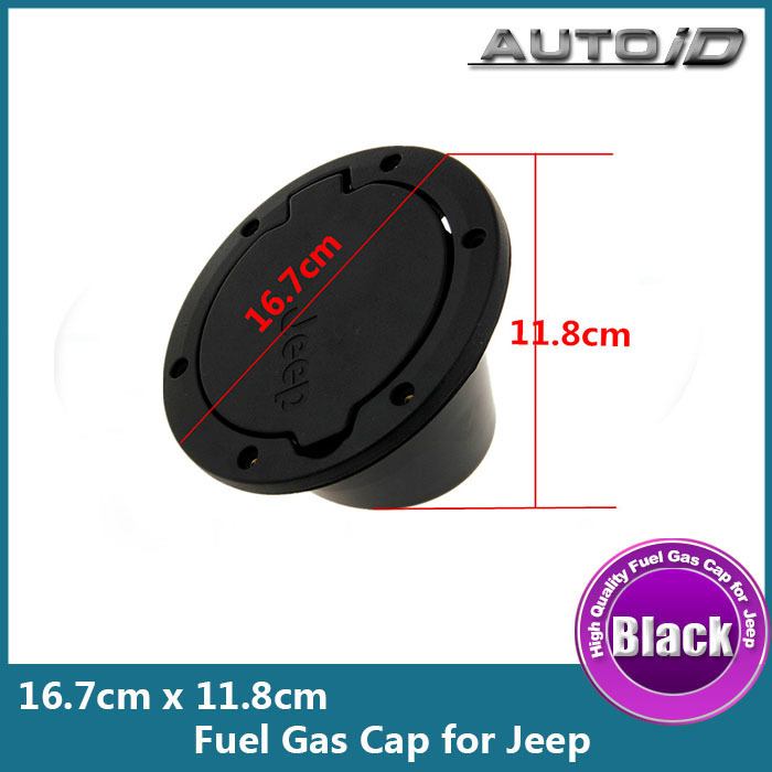 New Arrival Black ABS Fuel Cap No Locking Gas Cover Fuel Gas Cap Cover For Jeep Wrangler JK(China (Mainland))