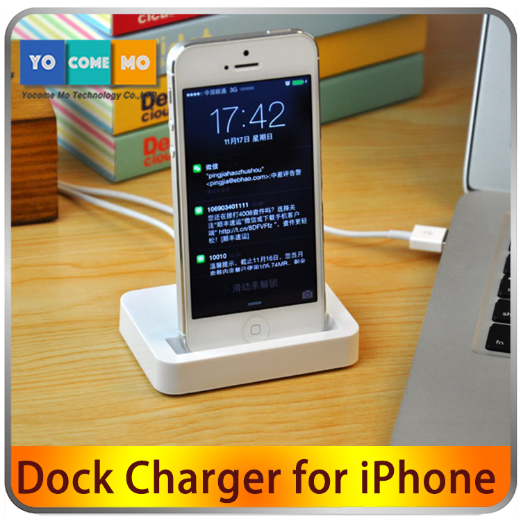 White & Black Data Sync Charging Charger Adapter Stand Station Dock for iPhone 5 5s 5C 6 6P(China (Mainland))