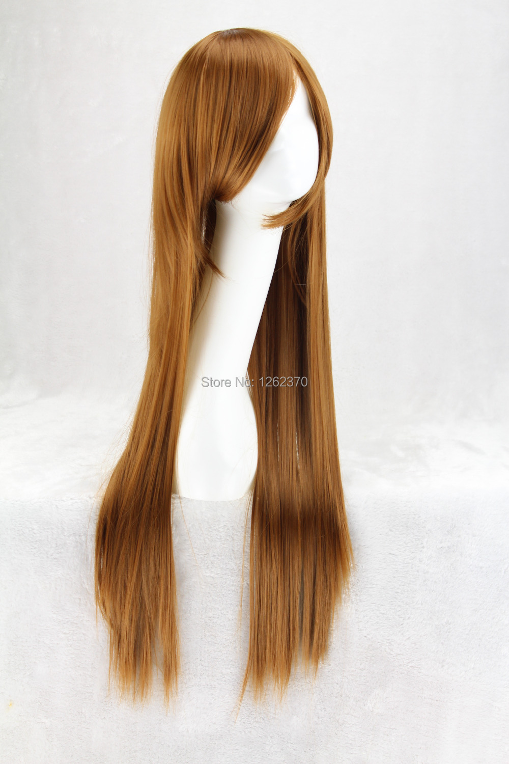 80 Cm Harajuku Cosplay Wig Women Long Straight Costume Party Synthetic Hair Full Brown Wigs For Japanese Anime Peruca Pelucas