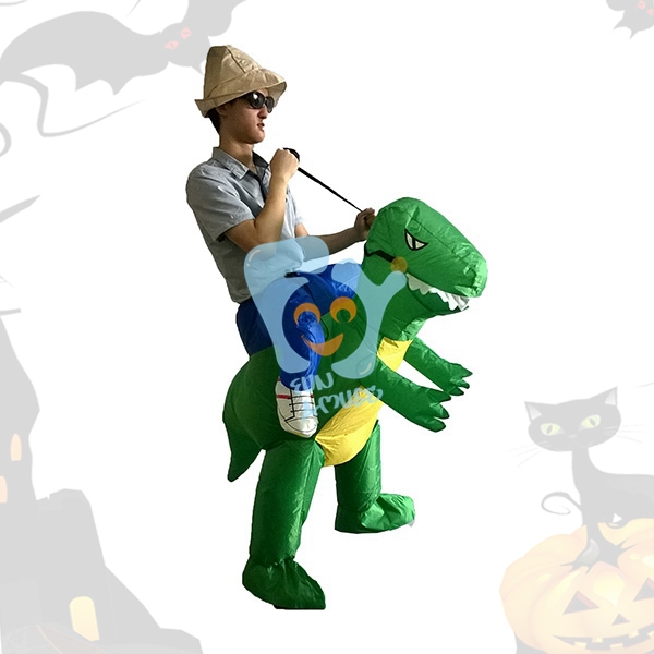 Hot Adult Halloween Party Costumes Walking With Inflatable Dinosaur Costumes Air Fan Blow Up Suits One Size For Person1.5m to 2m(China (Mainland))