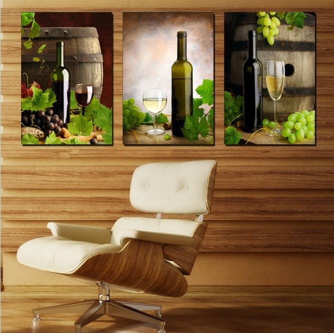 3 Piece Free Shipping Hot Sell Modern Wall Painting kitchen red wine Home Decorative Art Picture Paint on Canvas Prints BL459(China (Mainland))