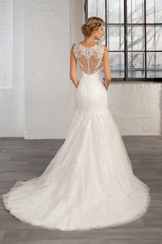 cheap long train wedding dresses