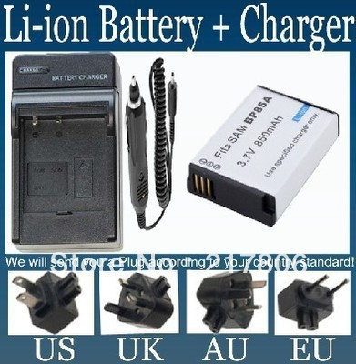 Battery and Charger for Samsung BP85A,EA-BP85A and Samsung PL210,PL-210,SH100,SH-100,ST200F,ST-200F,WB210,WB-210 Digital Camera(China (Mainland))