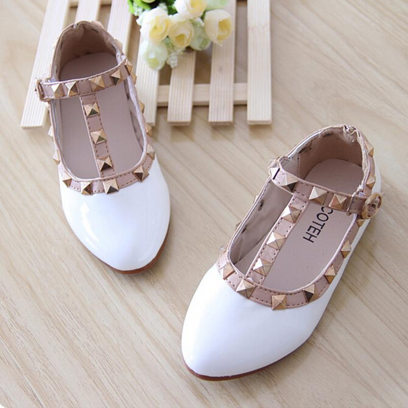 New 2015 kids leather shoes children Candy Color Cute Shoes princess Girl Cow Muscle patent leather shoes size 21 -36 wholesale(China (Mainland))