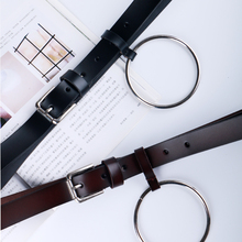 Buy women's big ring decorated belts female fashion genuine leather decoration lovely Newest Design Women waist belt for $8.00 in AliExpress store