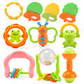 New 0 12 Months Baby Teether Bell Education Safety Fun Funny Children Toys Send the girl