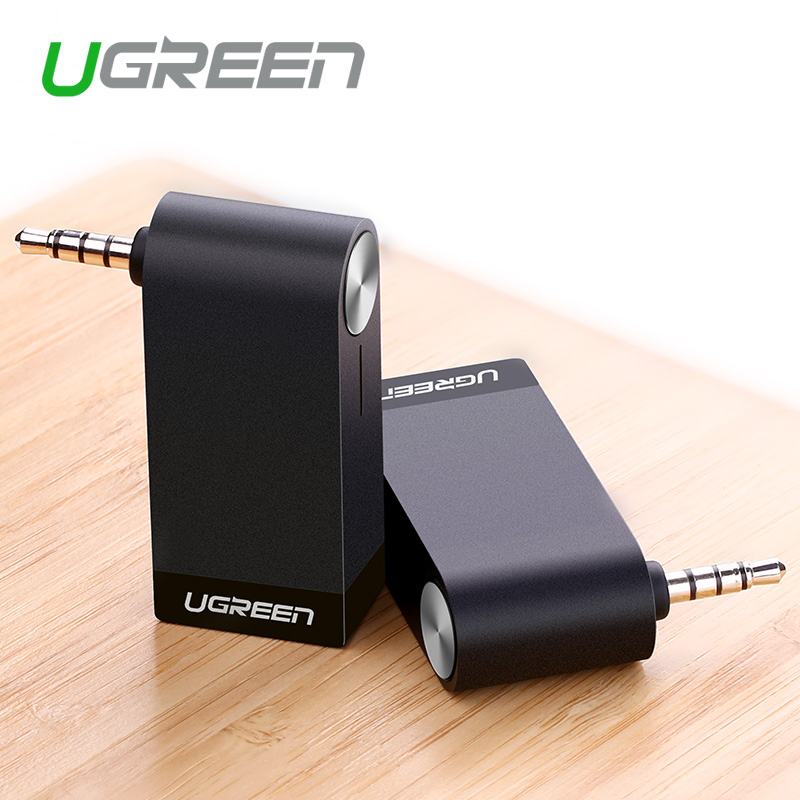 Ugreen Wireless Car 4.1 Bluetooth Receiver Adapter 3.5MM AUX Audio Music Home Hands-free Car Bluetooth Audio Adapter with Mic(China (Mainland))
