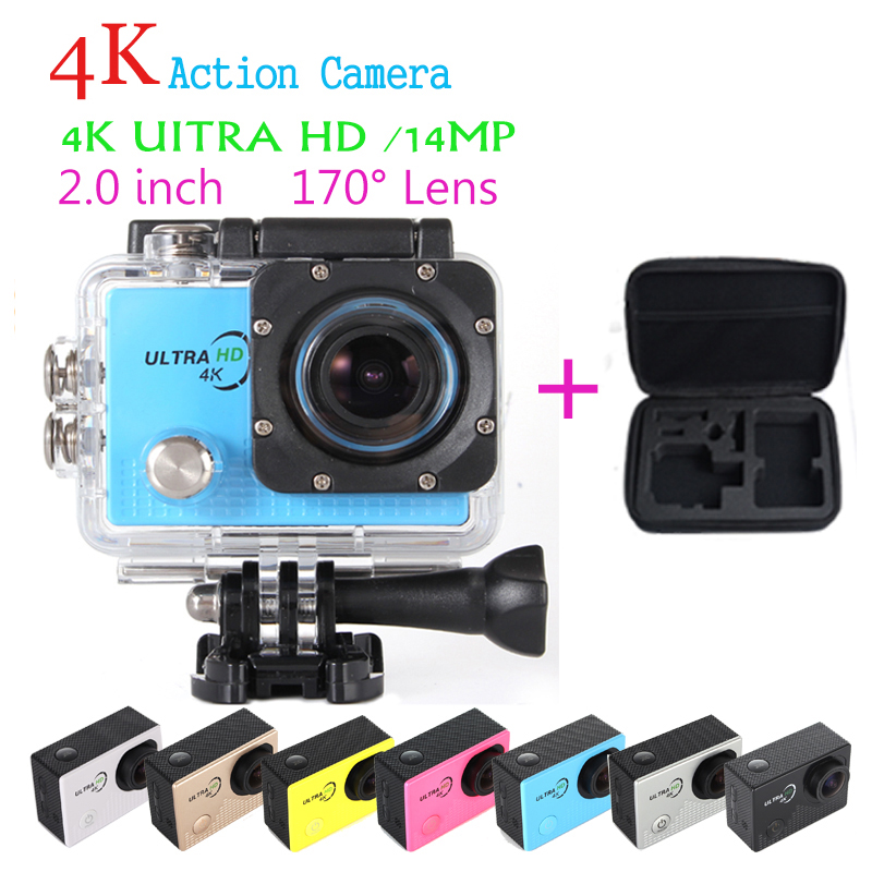 Pro5000 New Arrival 4K Ultra HD 14MP Action Camera Extreme Cam Skiing Cycling Diving Camera with Waterproof Case + Carrying bag(China (Mainland))