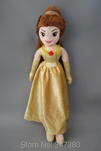 Buy Princess Plush Toy Beauty Beast Princess Belle Fairy Dolls Stuffed Dolls Girls Gift 52 CM for $12.98 in AliExpress store