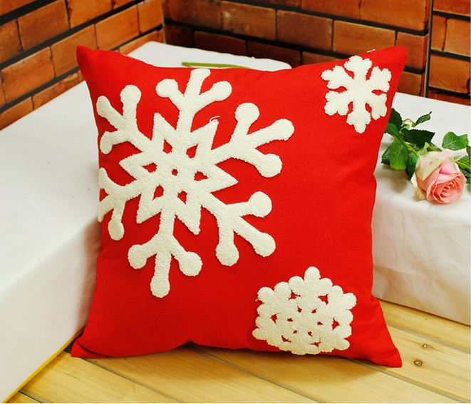 Aliexpress.com : Buy Embroidered christmas pillow embroidery cushion covers decorative throw ...