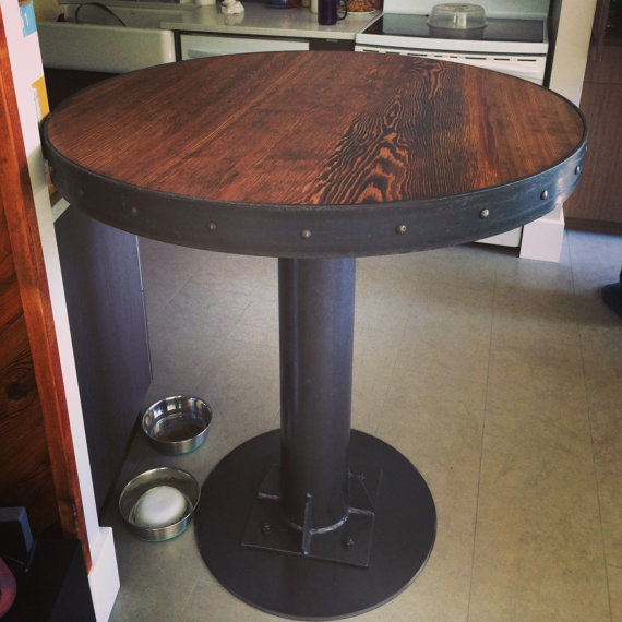 American creative retro round bar table solid wood  : American creative retro round bar table solid wood wrought iron cafe tables wood occasional tables round from www.aliexpress.com size 570 x 570 jpeg 64kB
