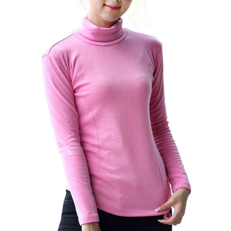 2016 Autumn Winter Fashion Women t-shirts Ladies Loose Long Sleeve Candy Color Tops Tees Comfortable Elastic Tops Plus Size 4XL(China (Mainland))