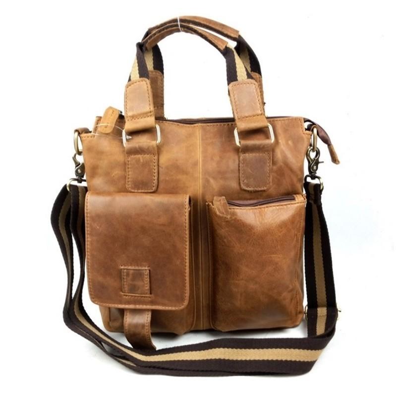 Men Messenger Bags Cowhide Genuine Leather Casual Business Bag Mens Shoulder Bag 2015 New Brand Design leisure bolsa masculina<br><br>Aliexpress