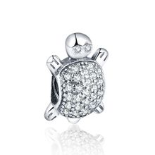 Buy 925 Sterling Silver Pave CZ Sea Animal Turtle Charms AAAA Cubic Zirconia Women Fit Pandora Bracelets DIY Jewelry Making for $6.64 in AliExpress store